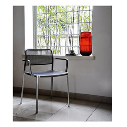 Audrey Chair by Kartell - The new family of Audrey chairs adds a fabric version. A versatile contemporary chair of clean, simple