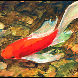 Caroline's Treasures - Fish - Koi Indoor or Outdoor Mat 24 x 36 Doormat - Indoor / Outdoor Mat 24 x 36 - 24 inches by 36 inches. Permanently dyed and fade resistant. Great for the front door or the back door. Use this mat inside or outside. Use a garden hose or power washer to chase the dirt off of the mat. Do not scrub with a brush. Use the Vacuum on floor setting. Made in the USA. Clean stain with a cleaner that does not produce suds.