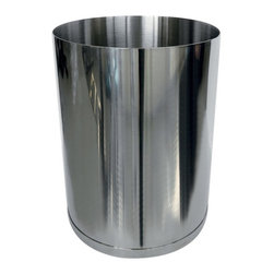 Gedy - Round Stainless 1.74 Gal Waste Basket - Standard bathroom waste bin. Designed to take up little space and has a capacity of 1.74 gallons. Made of polished stainless steel. Designed by Gedy in Italy. Polished Waste Basket. Made by Gedy. Part of the Vesta collection.