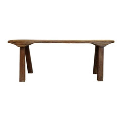 Pre-owned Balinese Teak Bench - Rustic simplicity at its best in this beautiful teak bench from Bali. Could be put to use in so many ways. Sturdy and stylish!