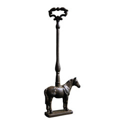 Equi Door Stop - Bring the spirit of barn life into your interior design with the Equi Door Stop. Made from durable cast iron, this stop makes sure that your door stays open to let the fresh air in.