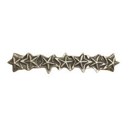 Anne at Home Hardware - Star Pull, Antique Bronze - Made in the USA - Anne at Home customized cabinet hardware enables even the most discriminating homeowner to achieve the look of their dreams.  Because Anne at Home cabinet hardware is designed to meet your preferences, it may take up to 3-4 weeks to arrive at your door. But don't let that stop you - having customized Anne at Home cabinet knobs and pulls are well worth the wait!   - Available in many finishes.