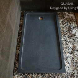 "QUASAR 60""x34"" GRAY GRANITE SHOWER BASE - Reference: ST604-US"