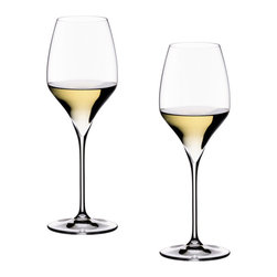 Riedel - Riedel Vitis Oaked Chardonnay Glasses - Set of 2 - Lead crystal launched in 2007. Recommended for: Burgundy, Chardonnay, Corton-Charlemagne, Meursault, Monbazillac, Montrachet, Morillon, Neue Welt Chardonnay, Picolit, Pouilly-Fuissé, Riesling, Riesling Smaragd, St. Aubin, Sauvignon blanc, Smaragd.