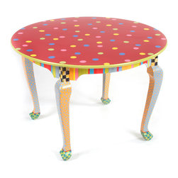 Play Table | MacKenzie-Childs - Ample enough for a board game or a tea set. This delightful hand-painted hardwood table is your next generation's heirloom. Hand-painted hardwood frame with nontoxic paints. Child safety tested.