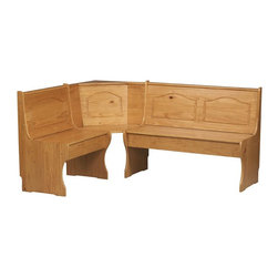Linon Home Decor - Linon Home Decor Chelsea Corner Unit X-U-DK-10-2N66309 - Create a cozy spot for meals and conversation in any corner of the kitchen.  The rich honey pine finish on this corner nook provides a traditional look to this highly functional piece.