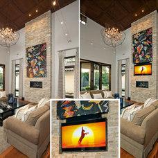 Modern Living Room by Leon Speakers, Inc.