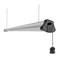 Lithonia Lighting - Lithonia Lighting 40-Watt Gray LED Cable-Mount Shoplight 1292L - Shop for Lighting & Fans at The Home Depot. The LED Cable-Mount Gray Shop light from Lithonia Lighting provides energy-efficient task lighting or general purpose lighting for utility applications like workshops, garages and basements. The integrated LEDs eliminate the need for light bulbs, and have a 50,000 hour average life span. Cables are included for easy installation, and they allow you to adjust the direction of the light.