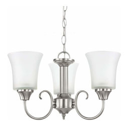 Sea Gull Lighting - 3-Light Chandelier Brushed Nickel - 39806BLE-962 Sea Gull Lighting Holman 3-Light Chandelier with a Brushed Nickel Finish