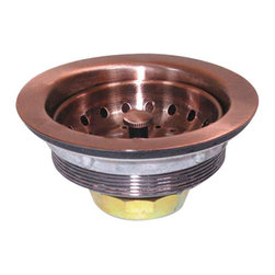 Yosemite Home Decor - Electroplated Copper Finish Strainer Drain - Electroplated Stainless Steel Strainer Drain for 3.5 inches diameter sink hole Copper finish
