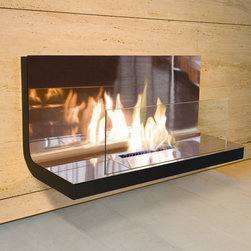 """Radius Design - Wall Flame Fireplace - Wall flame I is wall mounted and provides an attractive addition to a room. Aside from fulfilling its normal function. This elegant, guaranteed inflammable wall-mounted corpus, is attractive to look at and embellishes every wall. Features: -Emission without sooty particles.-Special ceramic combustion chamber.-Low fuel consumption (max 500ml per hrs).-Even flames.-Burning up to 4 hours.-Very low heating of the combustion chamber.-Safety double-walled combustion chamber.-Easy handling.-Infinitely adjustable regulating flaps.-Safety glass.-Distressed: No.-Fuel Type: Bio-ethanol.-Country of Manufacture: Germany.Dimensions: -Overall Height - Top to Bottom: 15.7"""".-Overall Width - Side to Side: 31.5"""".-Overall Depth - Front to Back: 13.8"""".-Overall Product Weight: 42 lbs."""