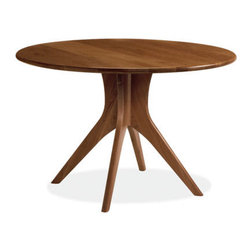 Bradshaw Dining Table  - Room & Board - This round table is a great space saver for a small dining room or eat-in kitchen, and it's also got some very hot legs that recall mid-century Scandanavian design. In addition, round tables are supposed to be a Feng Shui thing.