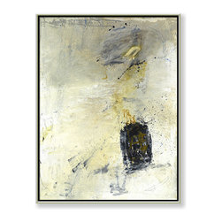 """CHC Art, Inc - Zero Gravity, Hand-Embellished Giclee, 60""""x48"""" - This minimalist piece is simple in appearance. However, a depth of field is created by layered shades of white with smearing on the surface."""
