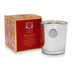 Aquiesse Winter Currant Soy Candle - Enjoy the delectable blend of ripe red currant, cassis, and heirloom citrus fruits fused with the woodsy aroma of antiqued French oak. This holiday candle adds the perfect touch for a holiday filled with warmth and comfort.