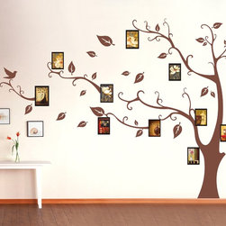 "Tree Wall Decal Photo Wall Nature Wall Decal Nursery - Whole visual dimension: 145""W x 100""H (368cm x 254cm)"