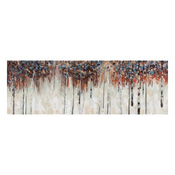 Yosemite - Yosemite YD110321B Fall Foliage II Wall Art - Yosemite YD110321B Fall Foliage II Wall ArtPoetic piece with soothing backgrounds in shades of browns of heavy acrylic paint and separate use of color in blue and red for a more dramatic statement.Yosemite YD110321B Features: