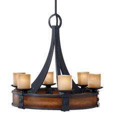 Chandeliers Madera Chandelier No. 2591 by Murray Feiss