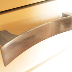 Brushed Nickel Handle - We carry many different types of hardware, including curtain rods and finials, hand made glass and ceramic knobs and pulls, and commercial cabinet hardware.  We proudly represent Hafele cabinetry hardware products.  With so many different styles to choose from, there's something to satisfy everyone!