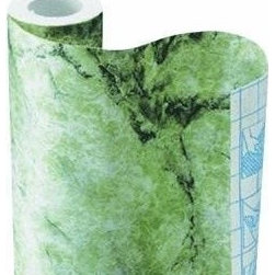 Green Italian Marble Contact Paper - Holy contact paper! Now this is a really inexpensive way to add kelly green to your room. I would use this to make book covers and style an entire bookshelf with green books.