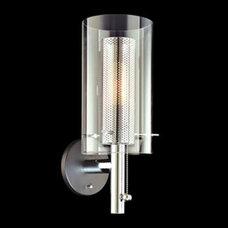 Polished Chrome Cylinder Hi/Low Sonneman Wall Sconce - Euro Style Lighting