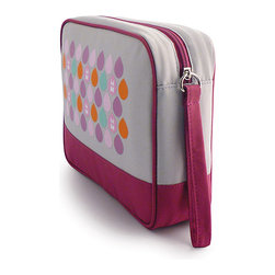 Milkdot - Popdots Go Pouch, Tokkiro Plum Dots - Popdots Go Pouch is the perfect carryall for everyday or for travel. With one large elastic pocket and three smaller elastic pockets, your items wil be sure to stay in place and stay organized. With its roomy interior, moms can even use the Go Pouch to carry diaper essentials or organize small toys, art supplies and crafts for road trips, outings or errands. It's the versatile pouch for children, teens and women to take on the go for school, work or travel with plenty of room for school supplies, toys, cosmetics, medicine, toiletries, first aid, baby essentials, snacks, drinks and much more!