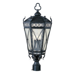 Maxim Lighting - Maxim Lighting 30451CDAT Canterbury 3 Light Post Lights & Accessories in Artesia - This 3 light Outdoor Pole/Post Lantern from the Canterbury collection by Maxim will enhance your home with a perfect mix of form and function. The features include a Artesian Bronze finish applied by experts. This item qualifies for free shipping!
