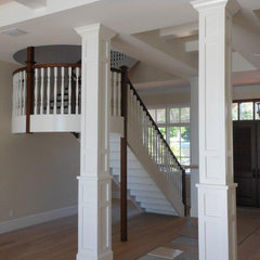 traditional staircase by Feil Inc. Wood Flooring