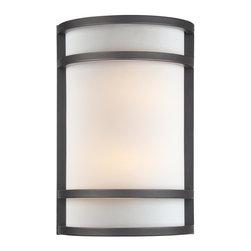 Minka Lavery - Minka Lavery 345-37B Dark Restoration Bronze 1 Light Wall Sconce - French Scavo Glass Shade