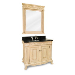 Hardware Resources - VAN011-T Jeffrey Alexander Vanity with Preassembled Top and Bowl in Antique Whit - Jeffrey Alexander Vanity with Preassembled Top and Bowl by Hardware Resources