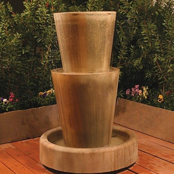 Outdoor Garden Water Features - This outdoor water wall is the perfect addition in any space. Engineered to perfection, this outdoor water feature is guaranteed to operate in the toughest outdoor conditions. Set-up is a cake walk; we designed it so that you can basically unpack , plug in, and begin to operate. Also, this outdoor waterfall operates off of a 110 AC volt operating outlet. Changing your office patio area into a relaxing paradise can easily be accomplished by installing this waterfall.