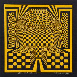 Roy Ahlgren, Desert Icon V, Silkscreen - Artist:  Roy Ahlgren, American (1927 - 2011)