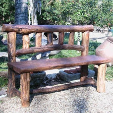 Eclectic Outdoor Stools And Benches by Hayneedle