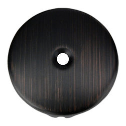 Premier Copper Products - Premier Copper Products D-351ORB Oil Rubbed Bronze Single-Hole Overflow Cover - Premier Copper Products D-351ORB Single-Hole Overflow Cover / Face Plate in Oil Rubbed Bronze