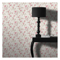Graham & Brown - Rose Cottage Wallpaper - Classical rose cottage wallpaper - this small scale climbing rose wallpaper compliments the other floral papers in this collection and also compliments the colours which have been put to gether the light blue, pink lilac will add a soft side to you but will also add the relaxing feel to your home.