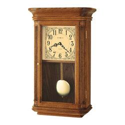 Howard Miller - Howard Miller Dual Chime Vintage Oak Wall Clock   WESTBROOK - 625281 Westbrook