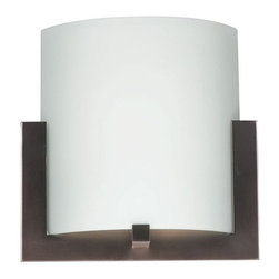Philips Forecast Lighting - Bow Wide Wall Sconce by Philips Forecast Lighting - The Forecast Bow Wide Wall Sconce transforms areas with its bright lighting and sleek, modern design. Features an etched white glass shade and metal fittings available in satin nickel or deep bronze. A contemporary wall light for the bathroom or hallway.Dedicated to seeking customer feedback, Forecast Lighting has generated distinctive lighting designs that clearly stand out in a crowded marketplace. Founded in Southern California in the early 1970s as Forecast Lightolier, this unique lighting company has an in-house design team that travels the world to identify materials and trends that will ultimately result in extraordinary lighting for the home and office.The Forecast Bow Wide Wall Sconce is available with the following:Details:Etched White glass shadeMetal bodyWall plateMounting hardwareUL Listed for damp locations. Install in protected, fully covered outdoor locations only. More about UL Listings.