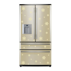 StickONmania - Refrigerator Design Decal #25 - These decals come with two of each element mirrored, you choose how to place them.A vinyl decal sticker that lets you choose how to decorate. Decorate your home with original vinyl decals made to order in our shop located in the USA. We only use the best equipment and materials to guarantee the everlasting quality of each vinyl sticker. Our original wall art design stickers are easy to apply on most flat surfaces, including slightly textured walls, windows, mirrors, or any smooth surface. Some wall decals may come in multiple pieces due to the size of the design, different sizes of most of our vinyl stickers are available, please message us for a quote. Interior wall decor stickers come with a MATTE finish that is easier to remove from painted surfaces but Exterior stickers for cars,  bathrooms and refrigerators come with a stickier GLOSSY finish that can also be used for exterior purposes. We DO NOT recommend using glossy finish stickers on walls. All of our Vinyl wall decals are removable but not re-positionable, simply peel and stick, no glue or chemicals needed. Our decals always come with instructions and if you order from Houzz we will always add a small thank you gift.