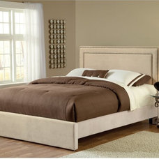 Contemporary Headboards Amber Upholstered Low Profile Bed - Buckwheat Multicolor - HL3105