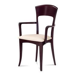 Domitalia - Giusy-P Dining Armchair, Wenge - -Armchair