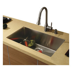 Vigo - Vigo Undermount Stainless Steel Kitchen Sink, Faucet and Dispenser - Vigo delivers top quality and unique design. Every detail is important