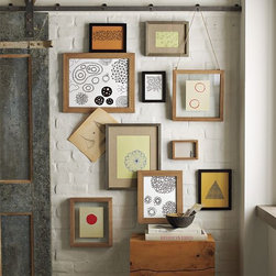Jason Polan Framed Wall Art - Amoebas, spirals, planets, pods and an assortment of neo-geo shapes are transformed into works of intriguing modern art for your wall, courtesy of artist Jason Polan.