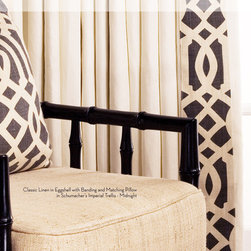 DrapeStyle Classic Linen Drapery - DrapeStyle offers a wide variety of fabrics including Schumacher, Kravet, Lee Jofa and Robert Allen to name a few.