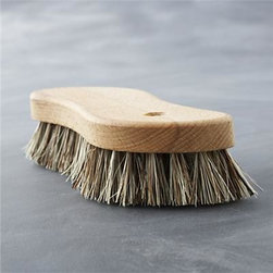 Redecker® Scrub Brush - Handcrafted in Germany by the Redecker family of artisan brushmakers, this thoughtfully designed brush uses rugged natural palm fibers to reduce the elbow grease required to scrub away all manner of messes. The comfortable S-shaped beechwood handle is a pleasure to hold, honed to ergonomically fit the hand.