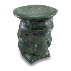 Zeckos - Bright Green Ceramic Frog Decorative Accent Stool Garden Stand - This beautiful green ceramic frog would look lovely making himself at home in your pad It has a flat topped surface perfect to show off your favorite plants, a romantic candle or lantern display or use it as a unique side table or garden stool This frog adds a touch of whimsy to patios, garden and courtyards. It measures 16 1/2 inches high and 12 1/2 inches in diameter. The single hole in the top allows for water drainage, and has foam pads on the bottom to help prevent scratches on delicate surface in your home or office. It makes a great gift for frog lovers.