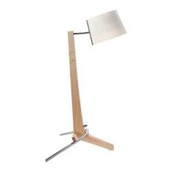 Cerno Silva Baltic Birch 21 1/2-Inch-H Unique Desk Lamp -