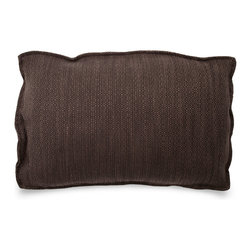 Blu Dot - Blu Dot Rectangle Pillow, Coal - It may have four corners, but it certainly is no square.  Available in 12 colors for you to play with.Cocoa, Graphite, Pebble, Persimmon: 100% Polyester, Chalk, Dark Roast: 70% Acrylic / 30% Wool blend, Ocean, Smoke, Stone: 77% Cotton / 23% Polyester, Aqua: 60% Wool / 40% Rayon blend upholstery, Guacamole: 80% Acrylic / 30% Wool