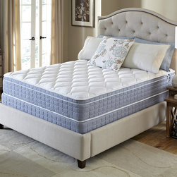 Serta - Serta Revival Euro Top Queen-size Mattress and Foundation Set - Fall into restful sleep with the comfort and support you desire with this European pillowtop mattress and foundation from Serta. This mattress is designed to offer the quality you expect from the Serta brand at an exceptional value.