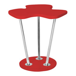 "Lumisource - Clover Side Table, Red - 21.25"" L x 19.25"" W x 22"" H"