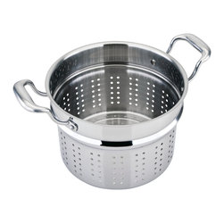 Engel-Riviere - All-Ply Steamer-Strainer - You'll steam and strain with total assurance, thanks to this improved take on the colander. Ergonomic stay-cool handles and sturdy, heavy-duty construction make preparing veggies, pasta and more a pure pleasure.