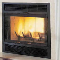 Majestic WarmMajic WMC Series 40'' x 40'' Wood Burning Fireplace - With a dual-chambered heat system, the WarmMajic® fireplace takes cool air in and circulates it around the firebox, where it is heated before being sent back out to warm the room. Two available sizes offer more installation options.